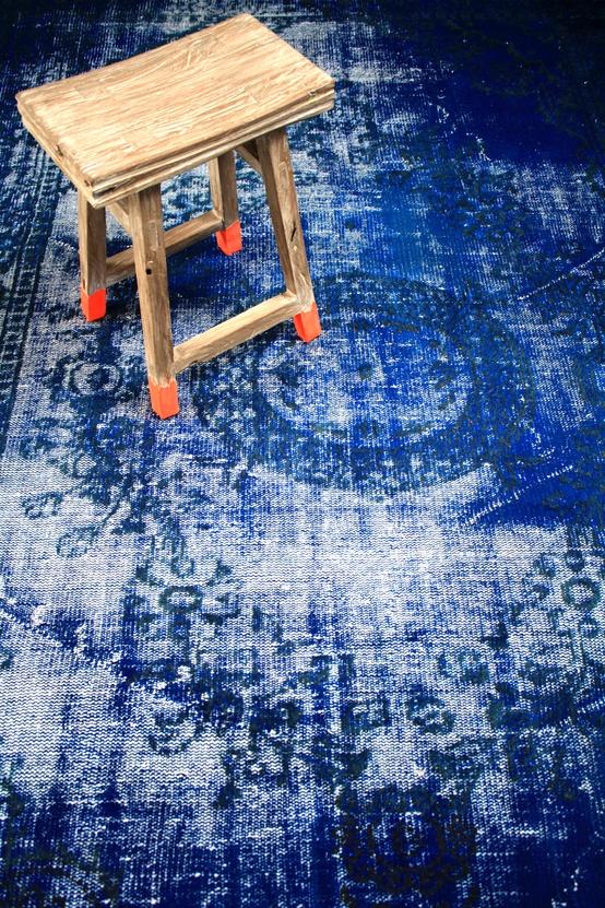 Dyed Indigo Rug Colormeindigoblog