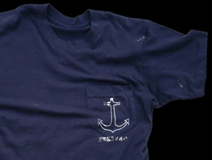 NAVY BLUE POKET TEE MEDIUM